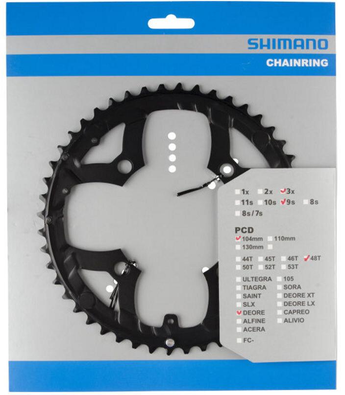 Zähne Shimano Fahrrad-Kettenblatt SLX FC-M675 10-fach//2-fach 24//26//28//38//40